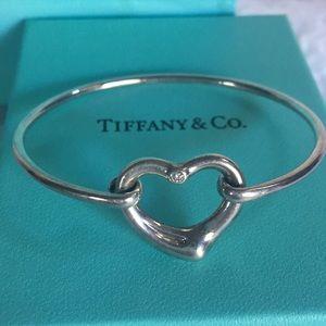 Tiffany & Co. Elsa Peretti Open Heart Diamond Cuff